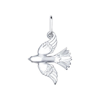 SOKOLOV - Flying Bird Pendant - Sterling Silver 925