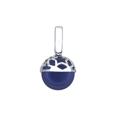 SOKOLOV - Sterling Silver Star Sphere With Round Swarovski Pearl, Night Stars Collection