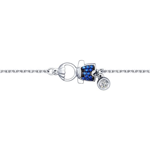 SOKOLOV - Boy Bracelet - Sterling Silver With CZ, Blue