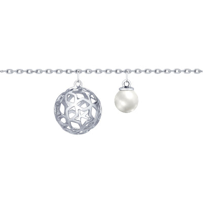 SOKOLOV - Silver Stars Sphere Bracelet With Swarovski Pear, Night Stars Collection