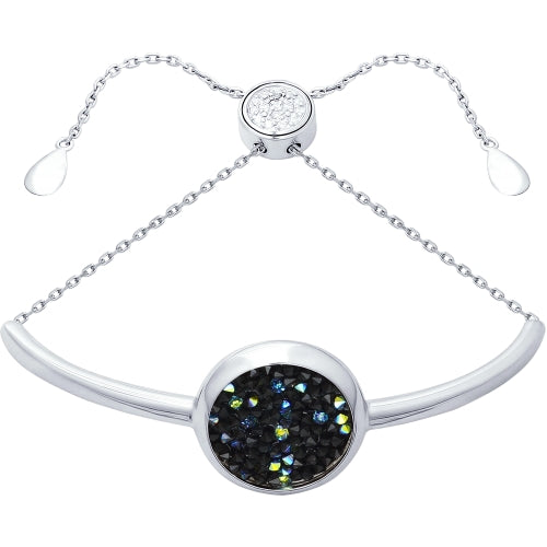SOKOLOV - Swarovski Crystals Silver Bracelet, Black - Fantasy Collection