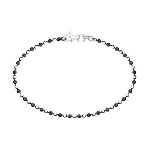 SOKOLOV - Silver And Blackened Silver Simple Round Bead Bracelet