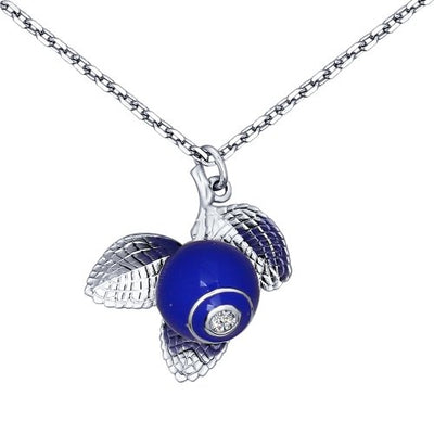 SOKOLOV - Blueberry Necklace - Silver 925 With Enamel And Fianite, Blue