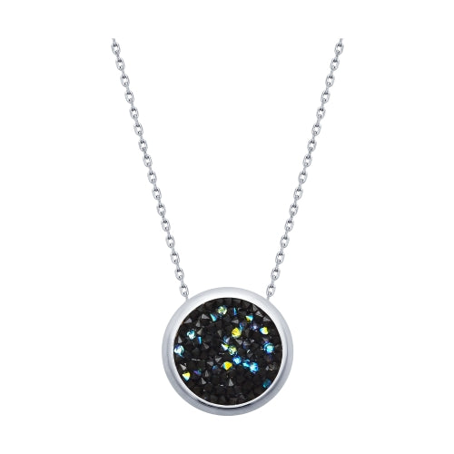 SOKOLOV - Swarovski Crystals Silver Pendant On A Chain, Black - Fantasy Collection