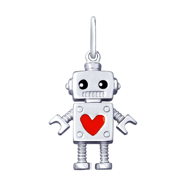 SOKOLOV - Robots Are Cool 925 Silver Charm