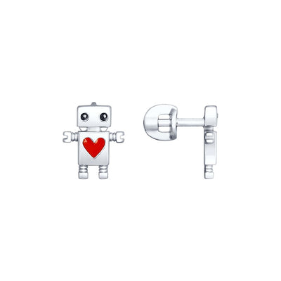 SOKOLOV - Robots Are Cool 925 Silver Stud Earrings