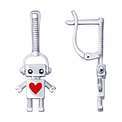 SOKOLOV - Robots Are Cool 925 Silver Drop Earrings