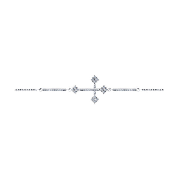 SKLV by SOKOLOV - Silver Cross Bracelet With Phianites
