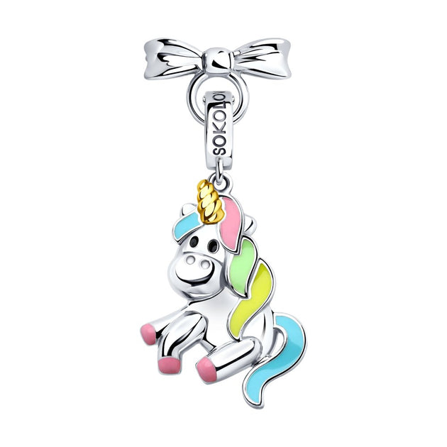 SOKOLOV JUST | MISS - Girls Quartz Necklace With Silver Unicorn Charm
