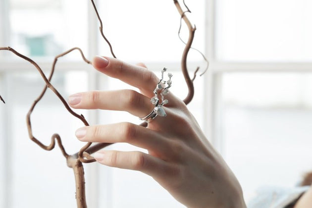 ALCHEMIA.MOSCOW - Polished Silver Branch Ring
