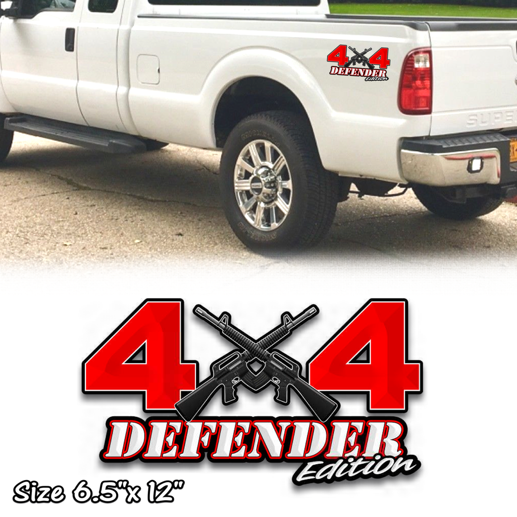 4x4 defender edition ar-15 decals