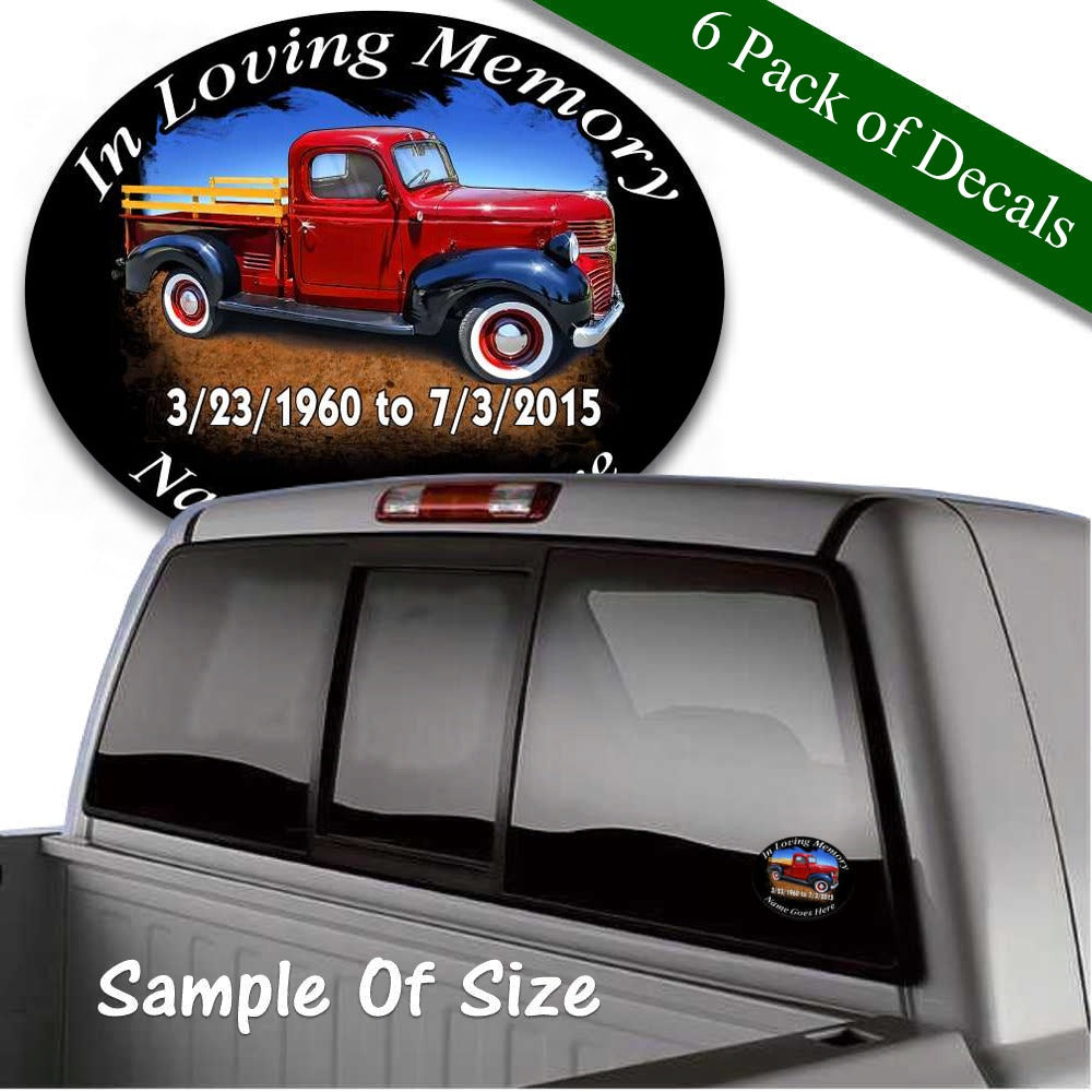 in loving memory custom decal old antique truck