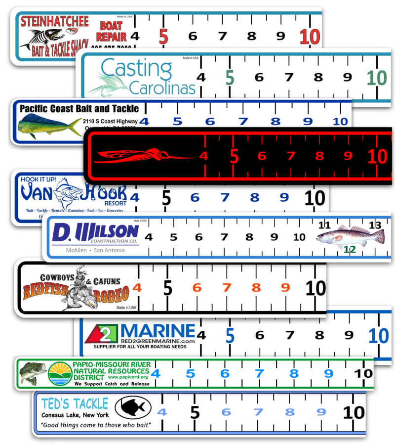 custom 40 inch boat ruler decal
