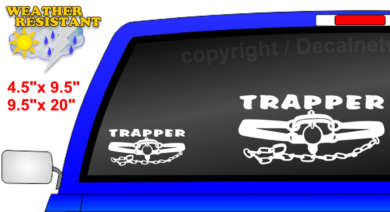 trapper closed trap design trapping decal