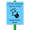 "12""x 18"" Aluminum Sign Design Online"