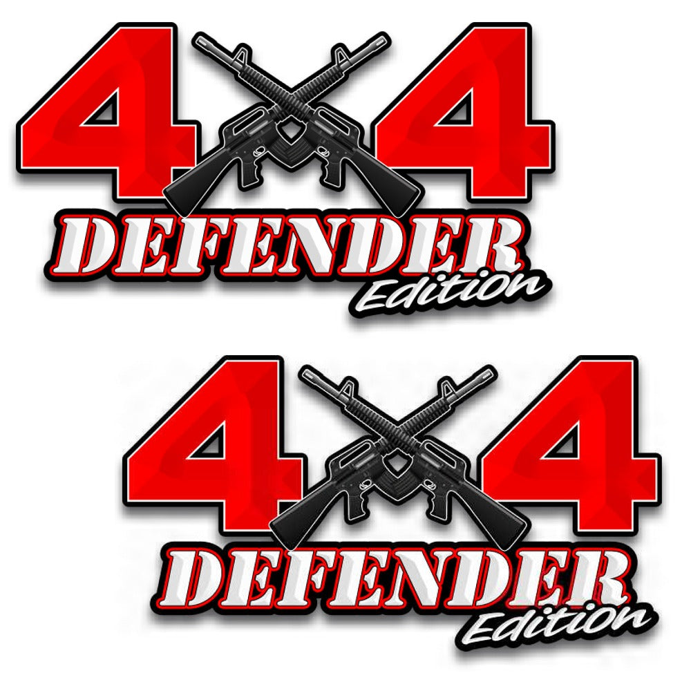 4x4 defender edition ar 15 off road vinyl decal set of 2 6 5x
