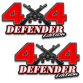 "4x4 Defender Edition AR-15 Off Road vinyl decal set of 2 6.5""x 12"" stickers"