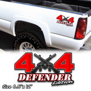4x4 defender off road ar 15 decal sticker