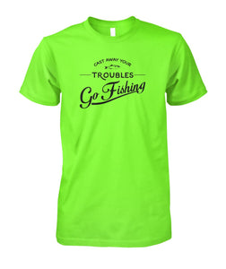 Castaway Your Troubles Go Fishing Unisex Cotton Tee