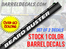 Beard buster gun barrel decal set