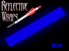 blue reflective arrow wraps