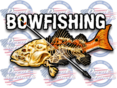 bowfishing vinyl decal