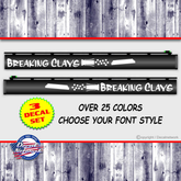Breaking Clays gun barrel decal set