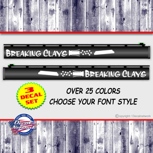 breaking clays skeet shooting trap vinyl gun barrel decals