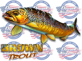Brown Trout full color vinyl fish decal sticker