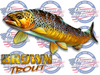 Brown trout full color vinyl sticker