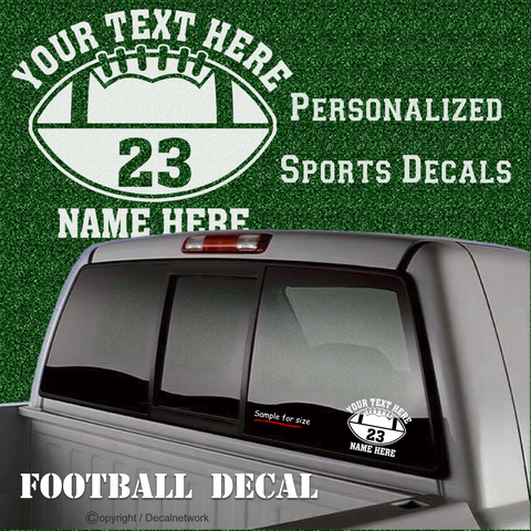 Image of custom personalized vinyl football decal sticker