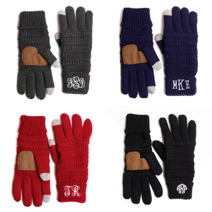 Personalized Monogrammed Gloves with finger boast for touch screen