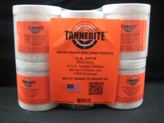 Tannerite Half Brick 4 pack of 1/2-lb  reactive exploding explosive targets