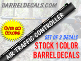 Air traffic controller gun barrel decal set