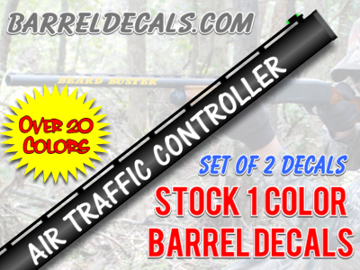 air traffic controller gun barrel decal sticker