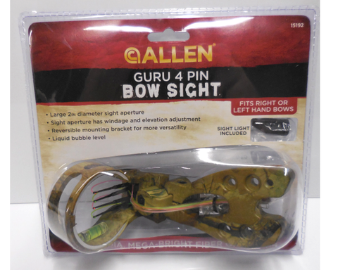 Image of GURU 4 PIN BOW SIGHT camo with light