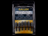 "Allen stay tight field points 11/32"" 100 grain."