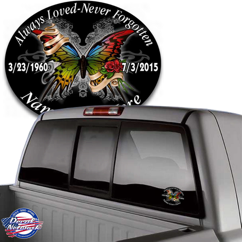 in loving memory decal butterfly