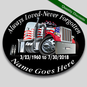 in loving memory truck driver decal
