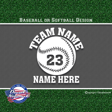 Custom Baseball Softball vinyl decal