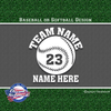 custom personalized vinyl baseball softball decal sticker