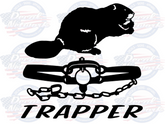 Beaver Trapper vinyl trapping decal sticker car truck suv window