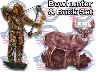 bowhunting decal deer buck archery