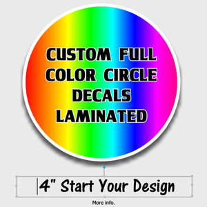 custom 4 inch full color decals stickers