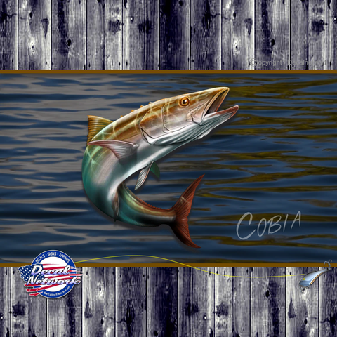 Image of cobia fish vinyl decal
