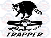 Coon Trapper vinyl trapping decal sticker car truck suv window