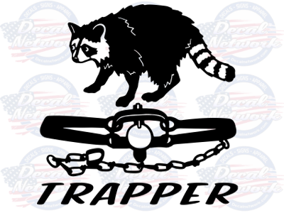 trapper coon trapping vinyl decal
