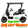 Custom Golf Cart Numbers Lettering Full color vinyl