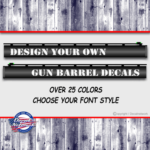 Image of custom gun barrel decals