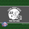 custom personalized vinyl football helmet decal sticker